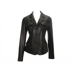 Women Designer Black Leather Blazer
