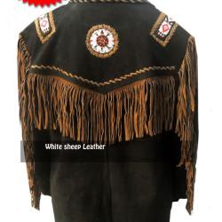 Vintage Fringed South Western Leather/suede Jacket