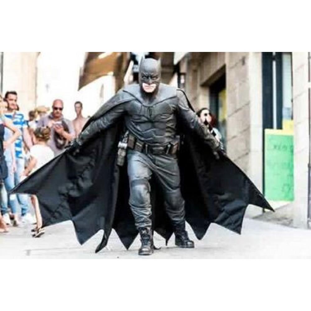 Ben Affleck Batman justice league Real Leather suit  + Gauntlets + cape