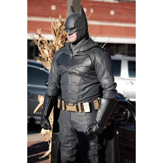 Batman Justice League Leather Suit With Cloak