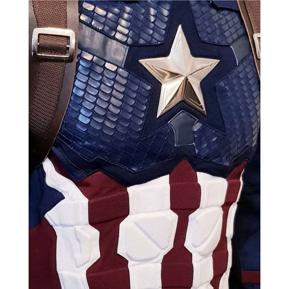 Captain America Steve Rogers Avengers 4 Endgame Costume Top (Jacket + Vest )