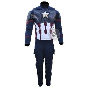 Captain America Steve Rogers Avengers 4 Endgame Costume Lycra Suit