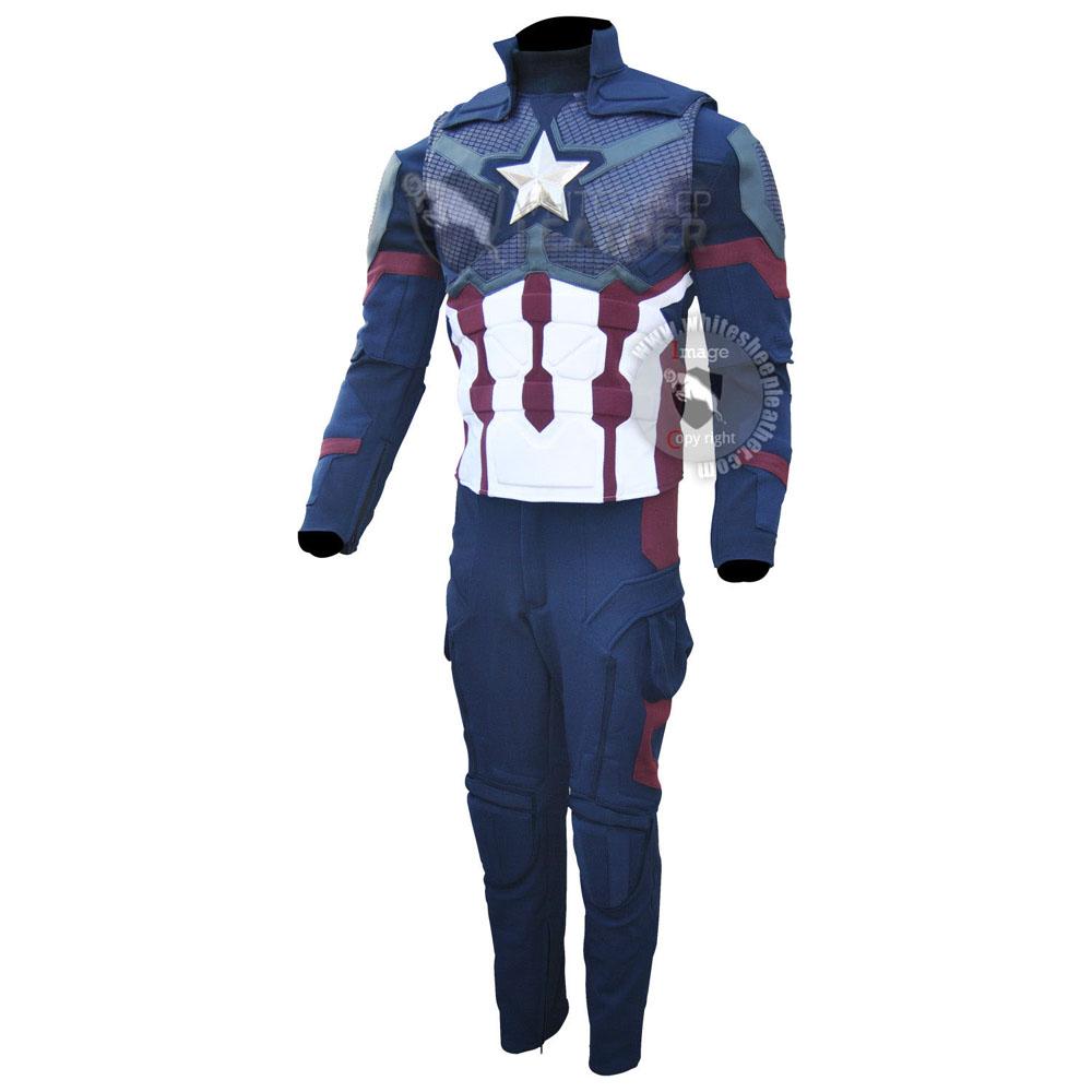 Captain America Steve Rogers Avengers 4 Endgame Costume Suit ( concept Art )