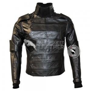 Captain America Winter Soldier : Bucky Barnes Real Leather Jacket