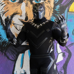 Chadwick Boseman Black Panther costume  (Textured stretch fabric Suit )
