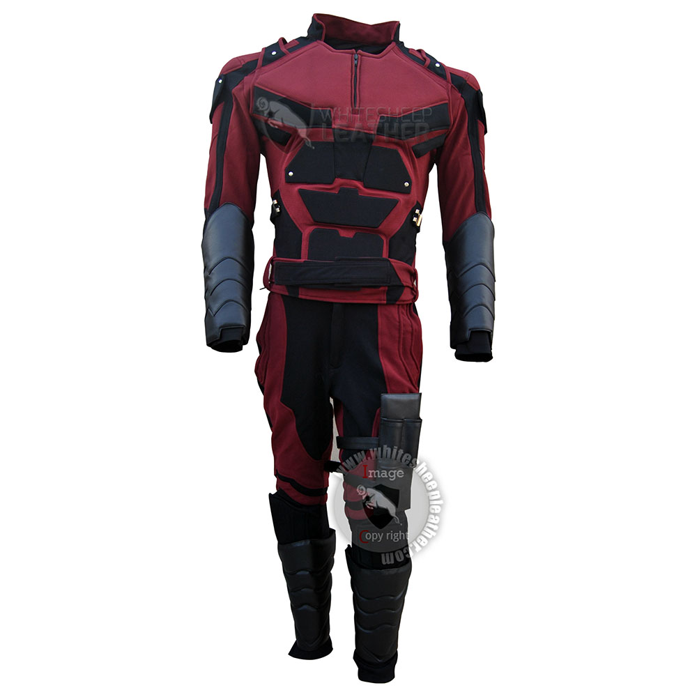 Charlie Cox Netflix Daredevil Costume Stretch Fabric suit with Accessories