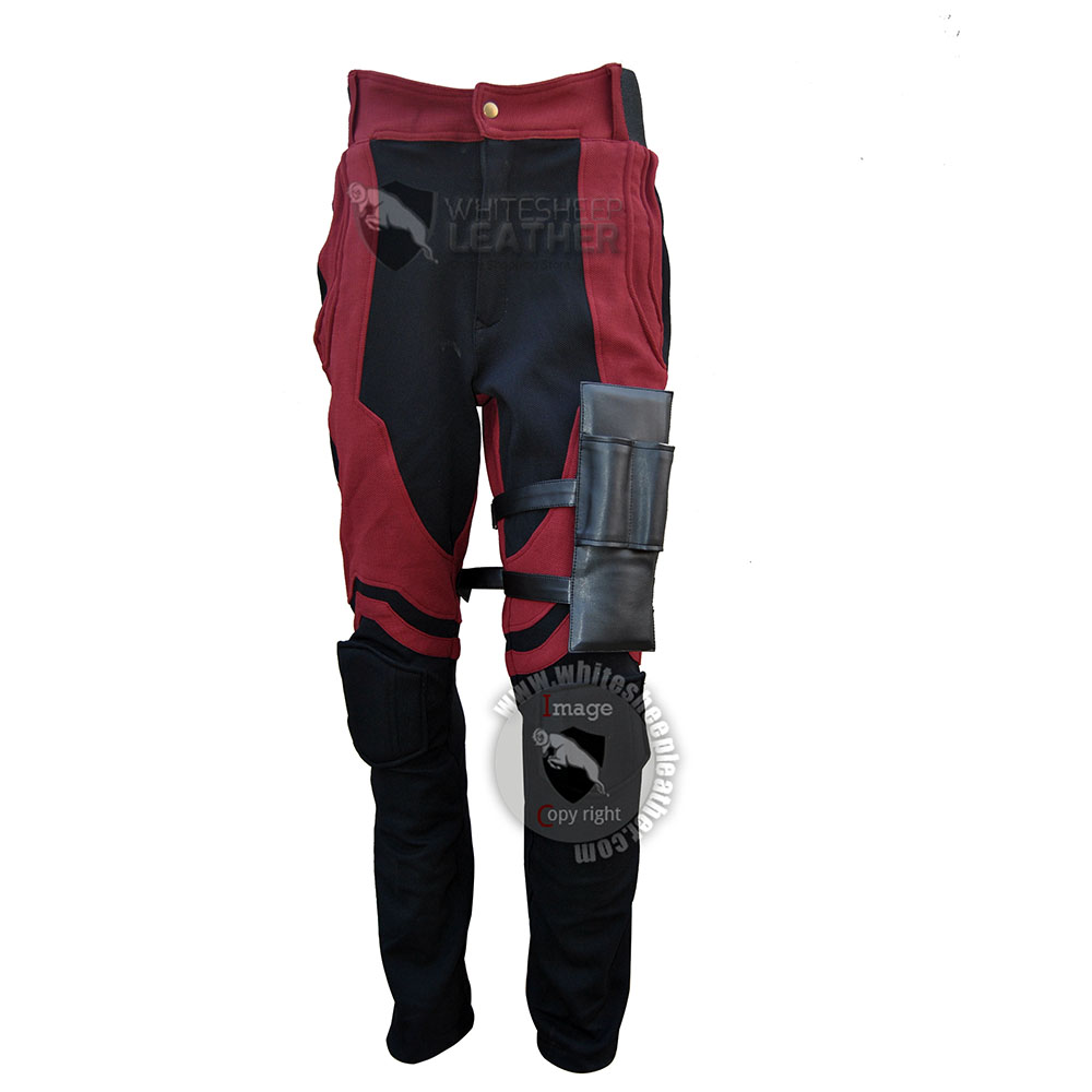 Charlie Cox Netflix Daredevil Costume pants with Accessories ( Textured Stretch Fabric )