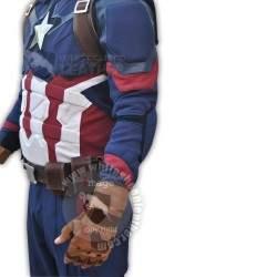 Captain America Civil war Steve Rogers Full Costume suit ( Textured Stretch Fabric )