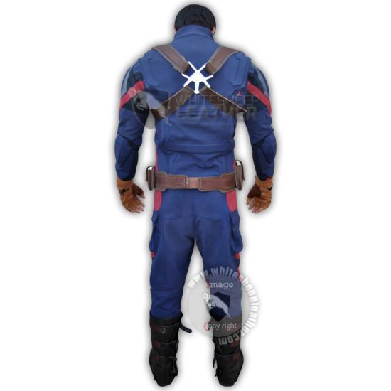 Captain America Civil war Steve Rogers Full Costume suit ( Textured Stretch Fabric )