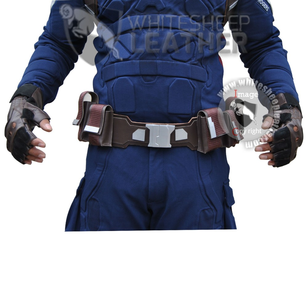 Captain America stealth strike costume suit with Accessories (Textured Stretch Fabric )