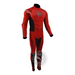 Daredevil  Red Comic Style Suit  ( Textured Stretch Fabric )