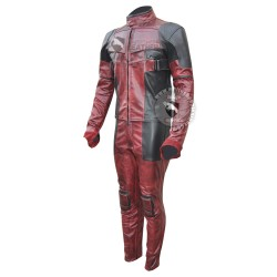 Ryan Reynolds DeadPool 2 movie Motorcycle Leather suit ( Free shipping )