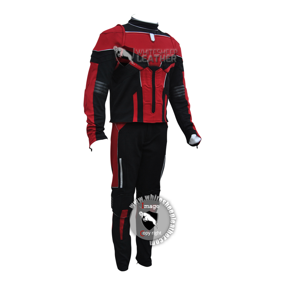 Scott Lang's  Ant-Man 2 Costume Suit (textured stretch Fabric suit )