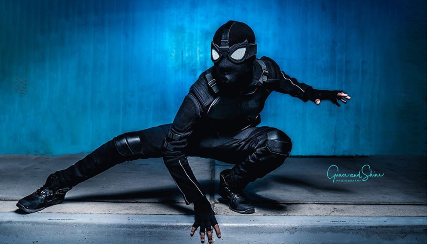 Spider-Man Far From Home Spiderman Costume Stealth Suit Spider Man Noir Jumpsuit