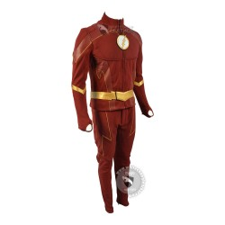 The Flash Season 4 Barry Allen Flash Cosplay (Textured Stretch Fabric )