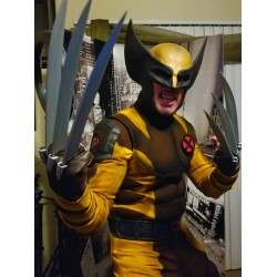 Wolverine Yellow and Brown Costume suit (Textured Stretch Fabric )