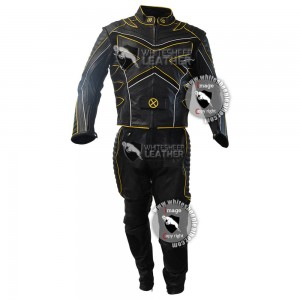 x men hugh jackman's wolverine Motorbike leather suit / x-men motorcycle cosplay