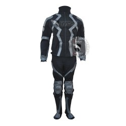 Marvel Heroes Black Bolt Costume Stretch fabric Suit with Accessories