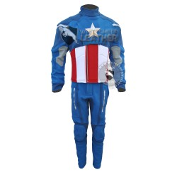 The Avengers : captain America Costume (Textured Stretch Fabric )