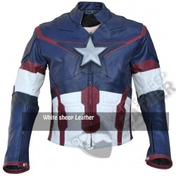 Chris Evans Captain America age of ultron Real Leather Jacket