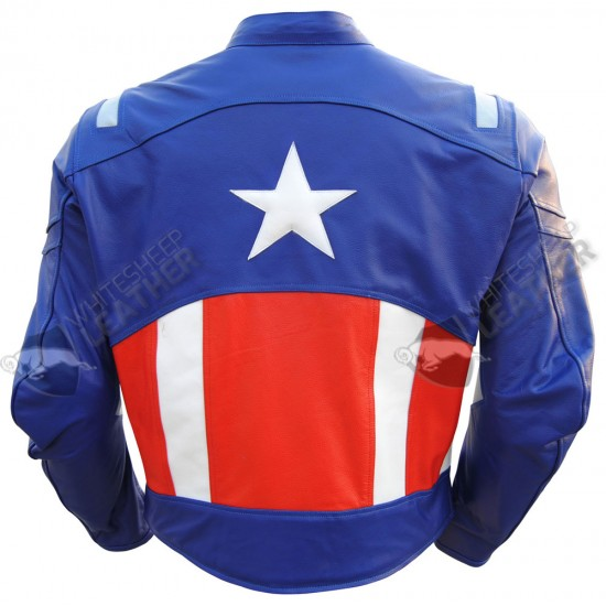 Captain America 2 Motorcycle Leather Jacket