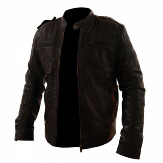 Men's Classic Brown Leather Jacket