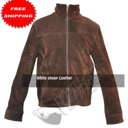 Rick Grimes Season 4 Brown Leather jacket