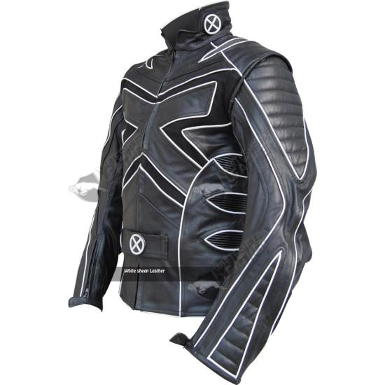 X-Men 3 Wolverine Black & White Leather Jacket