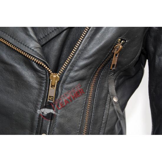 Black Classic Motorcycle Leather Jacket
