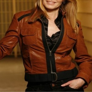 Catherine Willows CSI Crime Brown Leather Jacket