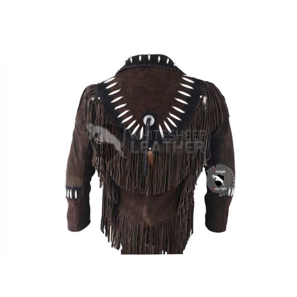 Mens Chocolate Western Cowboy Fashion Leather Vest Jacket