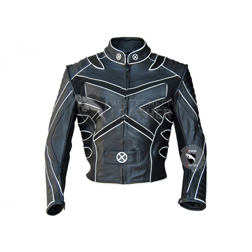 sc 1 st  White Sheep Leather & X-Men Volverine Biker Leather Costume