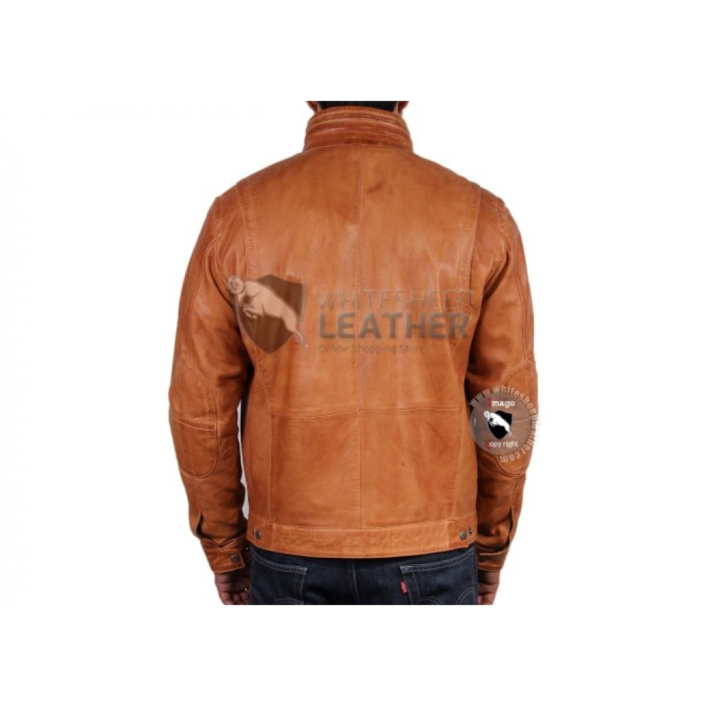 New Italian Classic Biker leather Jacket For Men (Free Shipping)
