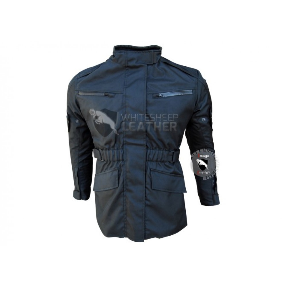 Belted Cordura r Jacket for Men in Black Color (Free Shipping)