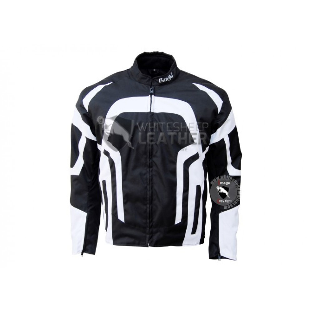 Textile Motorbike Men Black And Whitecordura Jackets ( Free Shipping )