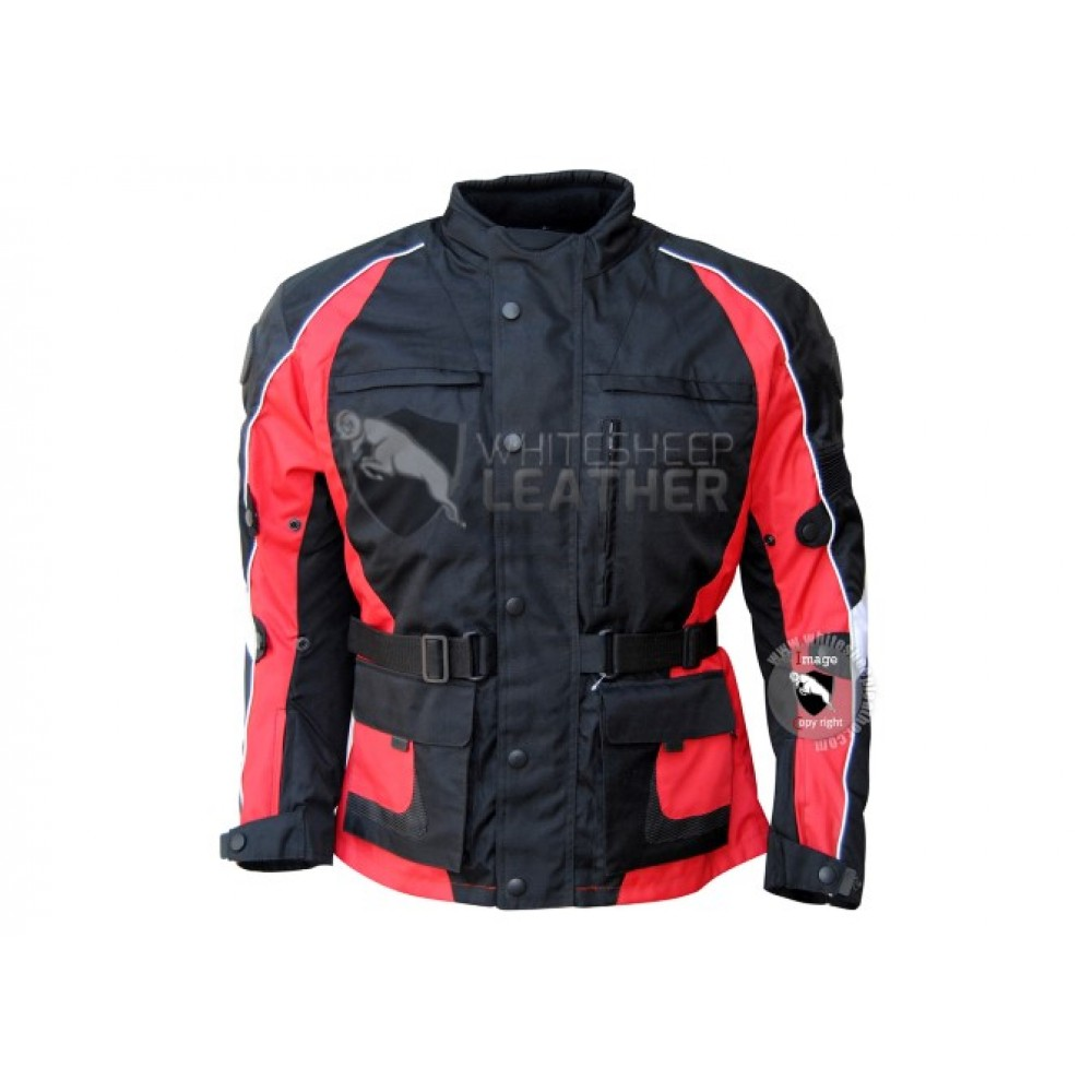 Textile Motorbike Men Black And Red  Jackets ( Free Shipping)