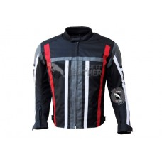 Textile Motorcycle Mens Black With Multi Color Contrast cordura Jackets (Free Shipping)