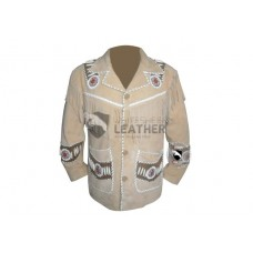 Mens Most Wanted Stylish Western Leather Jacket (Free Shipping)