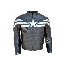 Captain America Black Leather Jacket