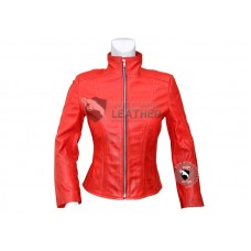 Scarlet witch Women Leather Jacket
