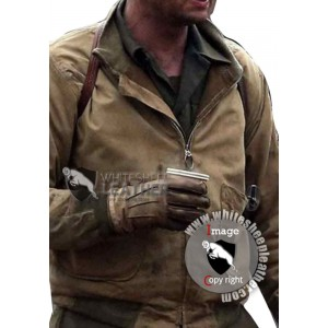 Fury Movie Brad Pitt WW2 Leather Jacket