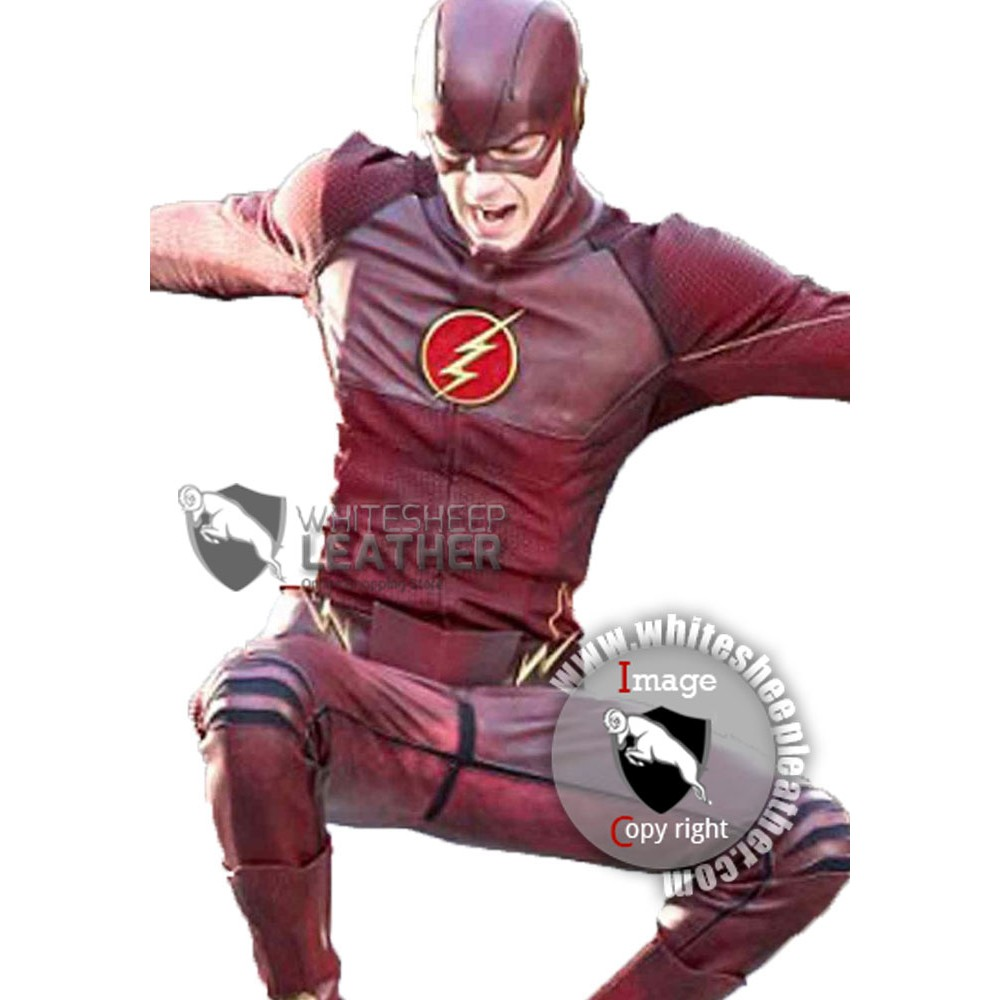 Grant Gustin American Television Series The Flash Leather Jacket (Free Shipping )