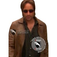 Hank Moody Brown Leather Jacket ( Free shipping)