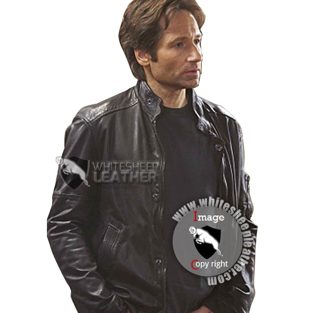 Hank Moody Leather Jacket Season 5 ( Free shipping )