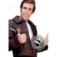 Happy Days Fonzie Leather Jacket for sale (Free shipping )