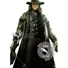 Hugh Jackman Gabriel Van Helsing Leather Trench Coat (Free shipping)