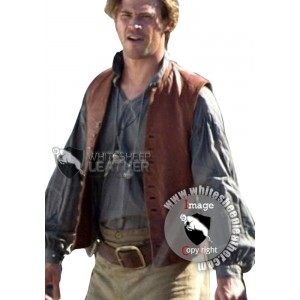 In The Heart of The Sea Film Chris Hemsworth Leather Vest (Free shipping)