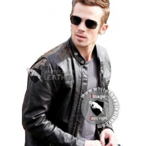 Jack Burlesque Cam Gigandet Black Leather Jacket (Free Shipping)