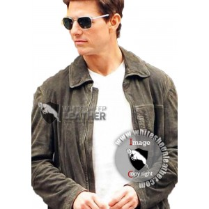 Jack Harper Oblivion Tom Cruise Suede Leather Jacket ( Free Shipping)