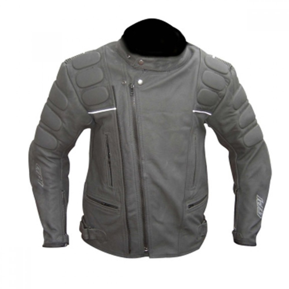 Designer Casual Black Motorcycle Leather Jacket
